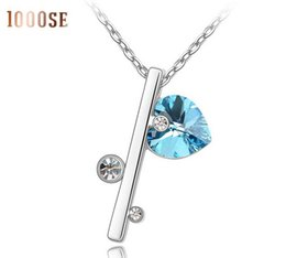 Wholesale 2017 new Qianse by chains of SWAROVSKI Elements Crystal Necklace female love aliexpress classic jewelry sale