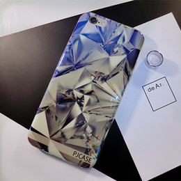 Wholesale Fashion Blue Ray Light Patterns Clear Case Shell For iPhone 7 7 Plus 6 6s 6plus 5s Soft TPU Back Cover