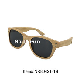 high quality brand light thin natural bamboo sunglasses with metal pins