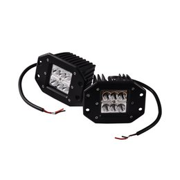 Canada 2pcs / Set Nouveau 18W Car Styling Square Shape 6000K LED Spot Work Light Bar Fog Driving Lampe Offroad Truck 4WD SUV 13x11x10cm Offre
