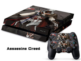 Assassin Creed Skin Sticker Vinyl Decals For PS4 Console + 2 PCS Controller Cover Decal Skins for Playstation 4