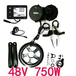 48V 750W 8fun Bafang Mid Drive Central Motor 2016 BBS02B Crank Motor Eletric Bicycles Trike Conversion DIY Ebike Kits with C963 LCD Display