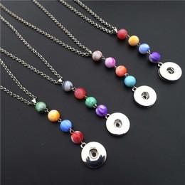 Promotion colliers de perles Fashion Noosa Chunks Métal Gingembre 18mm Snap boutons Multicolore Perles Choker Collier Mix Bijoux Vente en gros
