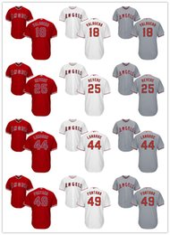 Wholesale MLB Baseball Los Angeles Angels Jerseys Nolan Fontana Luis Valbuena Ben Revere Ryan LaMarre
