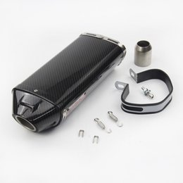 New Real Carbon Fiber 51 mm Exhaust Tail Pipe Motorcycle Exhaust System Modified Vent Pipe Exhaust Tips Slip On Honda CBR1000RR CBR500RR