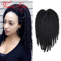 2017 le tressage des cheveux 12 pouces Nouveau style Kanekalon Braiding Crochet Hair 12 pouces 12roots / pack Havana Mambo Crochet Braid Hair Jamaican Bounce Crochet Hair Extensions budget le tressage des cheveux 12 pouces