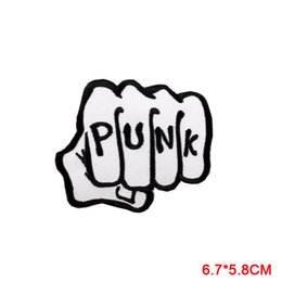 PUNK Rock Band Logo iron and sewing on patches