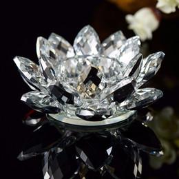 Crystal Glass Lotus Flower Candle Holders wedding columns candelabra centerpieces Holder Home Decor bowl Candlestick