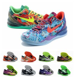 Wholesale New Products Kobe VIII Basketball Shoes For Men High Quality KB VIII CHRISTMAS Sneakers Outdoors Athletics Shoes Eur