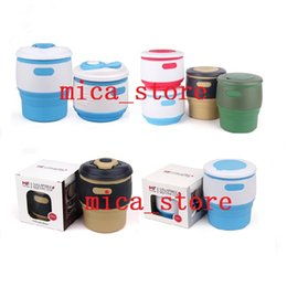 Wholesale CHEAPEST Silicone Collapsible Travel coffee Mugs food grade silicone Foldable creative coffee cup Original Reusable Coffee Cup