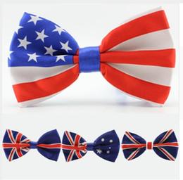 new fashion men bow tie American Flag necktie USA Union Jack British flag bowtie Australian neck ti