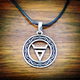 New Slavic Jewelry Druzy Round Slavic Impress of Veles Slavic Amulet Pendant For Necklace Men Pendant Druzy