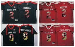 Johnny maillots manziel à vendre-Texas AM Aggies Black Men Jersey 2 Johnny Manziel 9 SEALS-JONES Maillots de football pour hommes
