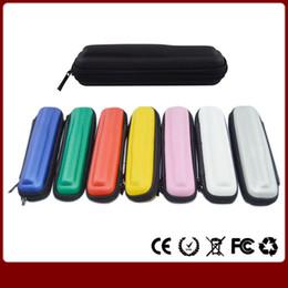 Promotion porter coloré Vente en gros 3pcs / lot coloré eGo Case petits kits Ecig 8 couleurs en cuir pour l'ego t électronique Cigarette kits de démarrage E Cig sac de transport
