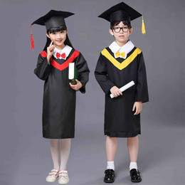 Wholesale Children Academic Clothing Doctor School Uniforms Kid Graduation Student Costumes Kindergarten Graduated Girl Boy Dr Suit Suits