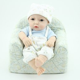 28cm Reborn Baby Doll Soft Silicone Vinyl Newborn Baby Child with Belt pants Kids Baby Birthday Toy Gift