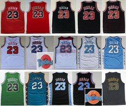 Wholesale Men Basketball Jordan Jersey Red MI Space Jam LOONEY TOONES Michaels Squad Team All Star TUNESQUAD Throwback College North Carolina