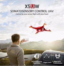 Vidéotransmission en Ligne-Syma X5UW Drone avec caméra WiFi HD 720P Transmission en temps réel FPV Quadcopter 2.4G Hélicoptère 4CH RC Drone Quadrocopter Haute Qualité