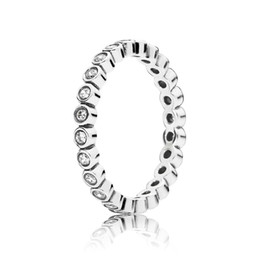 Wholesale Alluring Petite Brilliant Stackable Ring Clear CZ Rings For Wedding Factory CZ