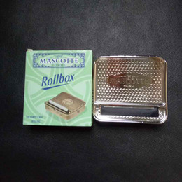 Wholesale Automatic Tobacco Roller Box Cigarette Roll Rolling Machine Stainless Steel Case Metal box size mm with retail box best