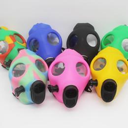 Wholesale Gas Mask Water Pipes Sealed Acrylic Hookah Pipe Bong Filter Smoking Pipe Tobacco water pipe Respirator mask bongs