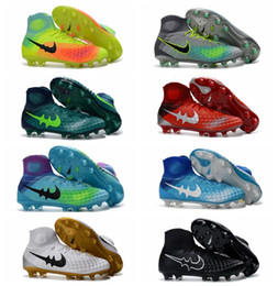Wholesale Men New Original soccer cleats soccer shoes boots soccer magista obra II fg soccer boot mens gold football boots black best quality