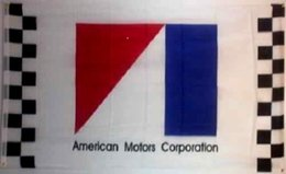Wholesale AMC AMERICAN MOTORS CORPORATION BANNER Racing car College Banner Flag X5Ft Custom America USA Team Soccer College Baseball Flag