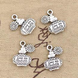 Wholesale Cents Charms perfume bottle mm Antique Making pendant fit Vintage Tibetan Silver DIY bracelet necklace