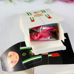 Wholesale 500pcs New arrival UAE Wedding Candy Box Arab Favor Box Gift Boxes Arabic Packaging Chocolate Box