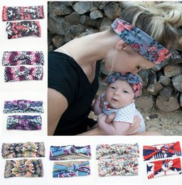 2017 New baby and mom rose floral headbands set Top Knots Headwrap Set Topknot Headband headwrap turban hair pieces mommy and me hair Cute