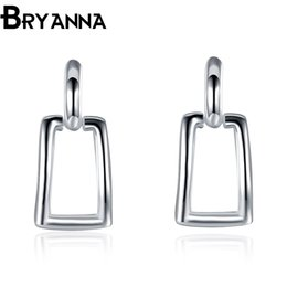 Bryanna 925 sterling silver dangling earrings for women Fashion Jewelry Wholesale Wedding Gifts aretes drop earrings E2057
