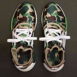 Wholesale 2016 NMD R1 APE BAPE7325 BAPE7326 Green Black Purple CAMO NMD_XR1 Camo NMD Men Running Shoes