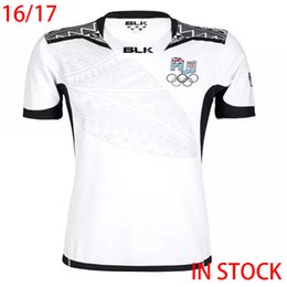 Wholesale 2016 Fiji Rugby Jersey White maillot Maglia Adults Men alternative shirts Size S XL In Stock