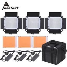 Wholesale LED A LED Video Light Panel Kit With LED Beads CRI90 K K Light Barndoor Filters Storage Bag Photography Set
