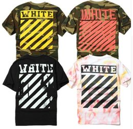 Wholesale OFF WHITE Short T Shirt Men Brand Hip Hop VLONE Kanye West Justin Bieber Purpose Tour T Shirts Thrasher Camouflage Palace XXL