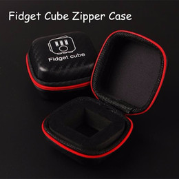 Wholesale Best Portable Fidget cube zipper case Storage PU Box for Fidget Case Decompression Toy Stress Relief Reduce Pressure Family Adults Gift