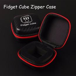Stockage pour les jouets à vendre-Meilleur Portable Fidget boîtier de fermeture à glissière cube PU Boîte pour Fidget Case Décompression Toy Stress Relief Réduire la pression Famille Adultes Cadeau