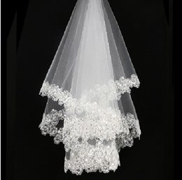 Wholesale The new Korean brides veil Bai Seliang piece of lace bride marriage yarn dress accessories