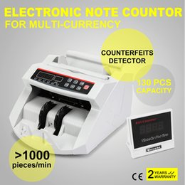 Wholesale Digital Cash Counter Banknote Money Detector UV MG Counterfeit Detection with LED Display for Bank Retail Store
