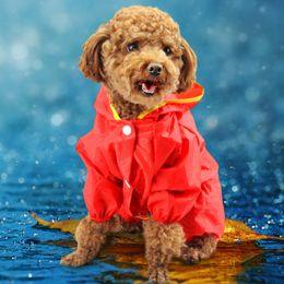 Fuentes del perro muelles en Línea-Ropa para mascotas Ropa del perro del peluche ropa de perro Primavera y verano ropa para mascotas Ropa para perros Poncho de lluvia Tome su sombrero Ropa impermeable Pet Supplies