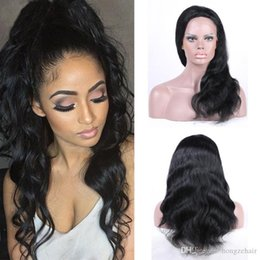 Best Selling Remy Human Hair Body Wave 130% Density Virgin Brazilian Hair Lace Front Wigs For Black Women With Baby Hair Natural Color