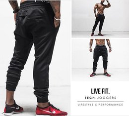 New Men joggers fitness Pants Casual Elastic cotton Mens Fitness Workout Pants skinny Sweatpants Trousers Jogger Pants