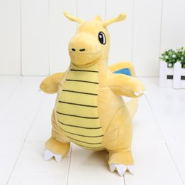 80pcs / lot 8.6 '' 22cm Jeu japonais Anime Cartoon Pikachu peluche Toy Dragonite Stuffed Peluche cadeau Poupée à partir de jeux vidéo japonais fabricateur