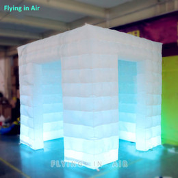 Hot-selling Cube Tent Lighting Inflatable Photo Booth with Colorful LED
