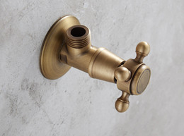 Wholesale Angle Valves Classic Oil Rubbed Antique Finish Washing Machine Faucet Toilet Faucet Bibcocks Wall Mount Faucets Accessories