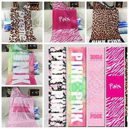 Wholesale VS Pink Bath Beach Towel cm styles Leopard Plage Bathroom Towels Mat Drying Washcloth Swimwear Shower OOA903