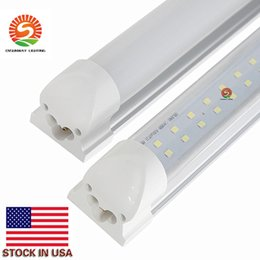 Double row Integrated T8 Led Lights 4ft 28W 8ft 60W Led Tubes Light double lines Led Light Tube 4ft 8ft AC110-240V UL