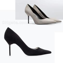 Promotion chaussures habillées pour les femmes prix Prix le plus bas ! Chaussures Femmes Chaussures Talons hauts Pointu Toe Slip-on Chaussures Talons hauts Nouvelle Femme Mariage Chaussures Party Party