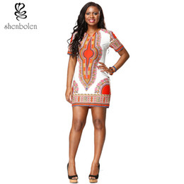 Shenbolen in summer fashion african women dress 100%Pure cotton fabrics The traditional geometric printing dress free package mail