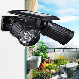 Argentina Super brillante 14 LED impermeable PIR Sensor de movimiento Solar Powered luz, led luces solares jardín de la lámpara de seguridad al aire libre Street Light bright led solar garden lights promotion Suministro
